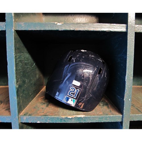 Photo of Taylor Motter #21 Team-Issued Batting Helmet 2017