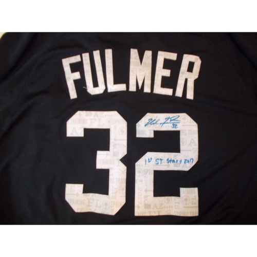 Autographed Game-Used Jersey: Michael Fulmer's 1st Spring Training Start 2017