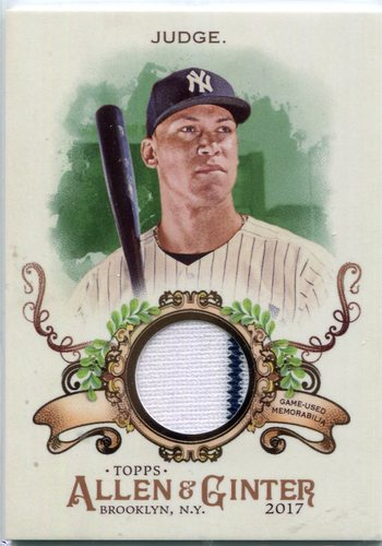 Photo of 2017 Topps Allen and Ginter Relics  Aaron Judge  Jersey