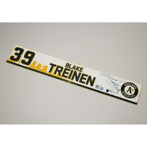 Blake Treinen 2017 Home Clubhouse Locker Nameplate