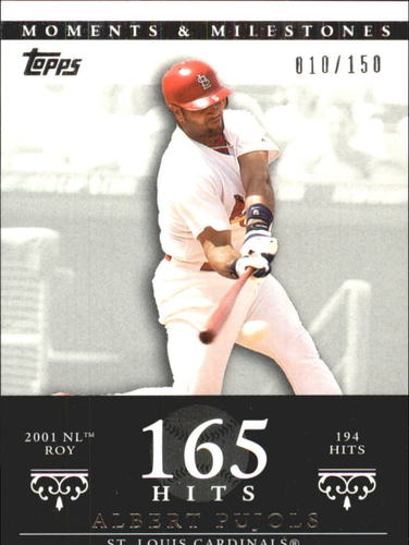 Photo of 2007 Topps Moments and Milestones #3-165 Albert Pujols/Hit 165