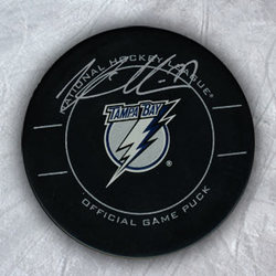 VICTOR HEDMAN Tampa Lightning SIGNED Official Game Puck