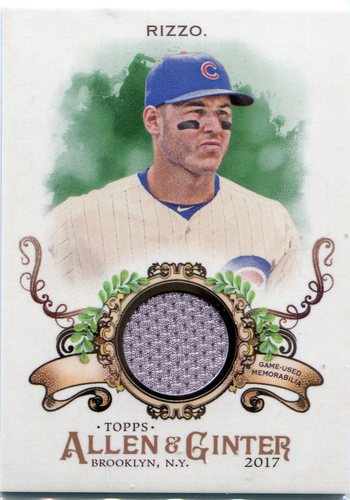 Photo of 2017 Topps Allen and Ginter Relics  Anthony Rizzo Jersey