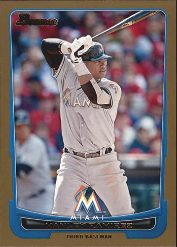 Photo of 2012 Bowman Gold #71 Hanley Ramirez -- Red Sox post-season
