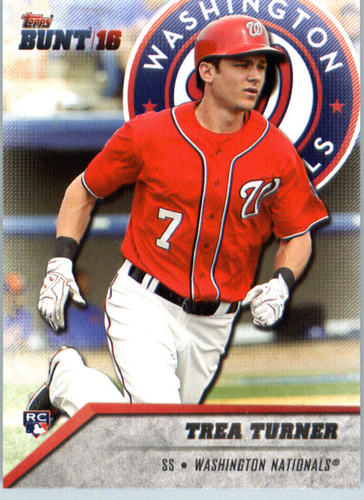 Photo of 2016 Topps Bunt #20 Trea Turner Rookie Card -- Nationals post-season