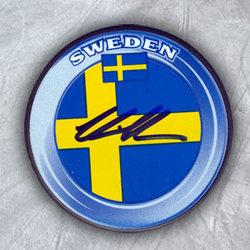 Victor Hedman Team Sweden Autographed Hockey Puck *Tampa Bay Lightning*