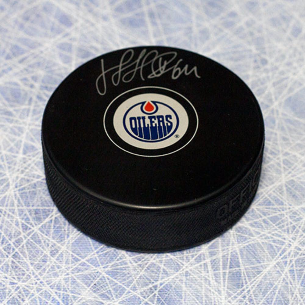 Nail Yakupov Edmonton Oilers Autographed Rookie Hockey Puck