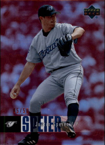 Photo of 2006 Upper Deck Special F/X Red #853 Justin Speier /50