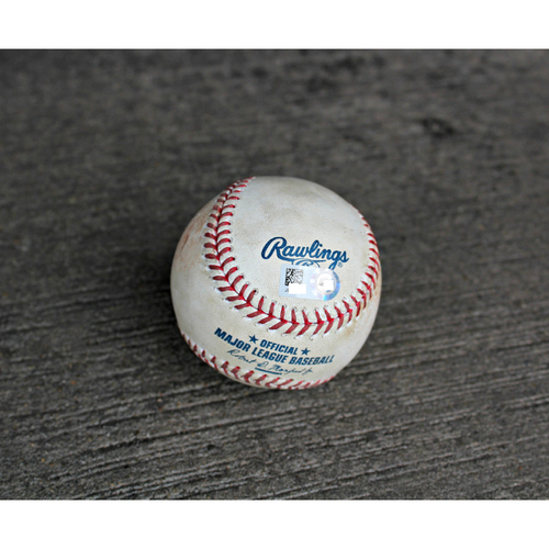 Photo of Game-Used Baseball: Robbie Grossman SGL to LF off KC's Pitcher Joakim Soria - (Sep 28, 2016 - MIN at KC)
