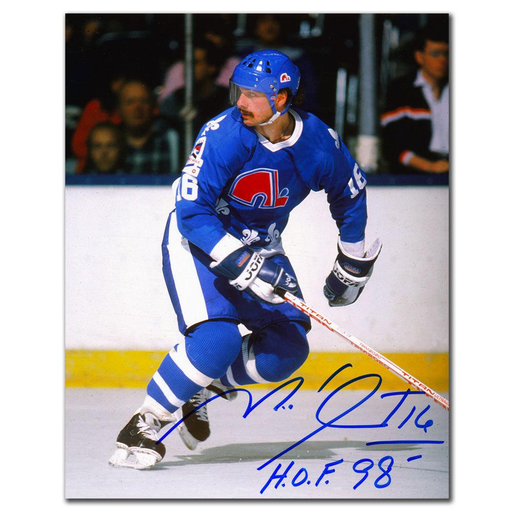 Michel Goulet Quebec Nordiques RUSH Autographed 8x10