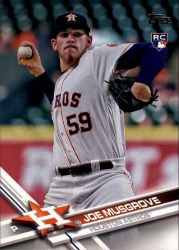 Photo of 2017 Topps #219 Joe Musgrove Rookie Card -- Astros post-season