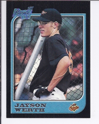Photo of 1997 Bowman #433 Jayson Werth Rookie Card  -- Nationals post-season