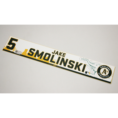 Photo of Jake Smolinski 2017 Home Clubhouse Locker Nameplate