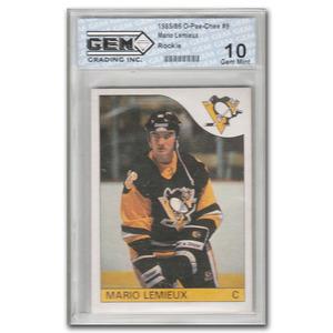 Mario Lemieux Pittsburgh Penguins 1985-86 O-PEE-CHEE #9 Rookie Card - Graded 10 Gem Mint