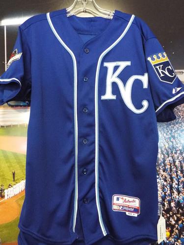 Photo of Club Issued Jarrod Dyson Blue 2015 Postseason Jersey