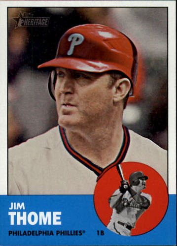 Photo of 2012 Topps Heritage #296A Jim Thome