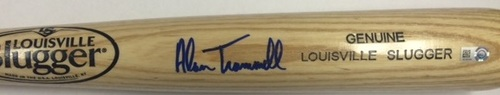Photo of Alan Trammell Autographed Blonde Louisville Slugger Bat