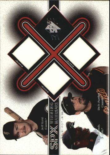 Photo of 2001 SPx Winning Materials Update Trios #KBA Jeff Kent/Barry Bonds/Rich Aurilia