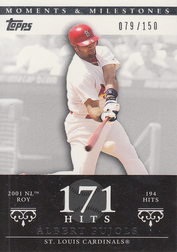 Photo of 2007 Topps Moments and Milestones #3-171 Albert Pujols/Hit 171