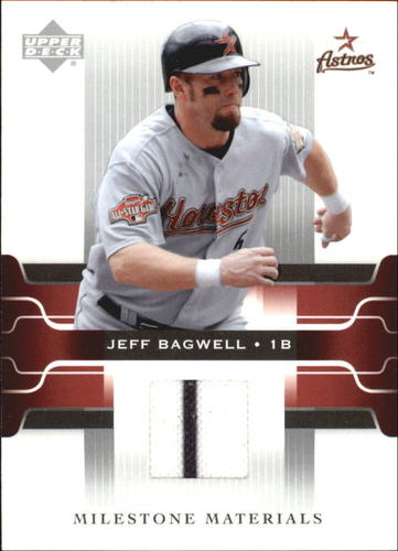 Photo of 2005 Upper Deck Milestone Materials #BA Jeff Bagwell Jersey
