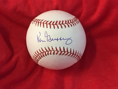 Photo of Ken Griffey Autographed Baseball