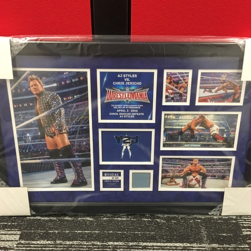 Photo of Chris Jericho WrestleMania 32 Signed Commemorative Plaque (#1 of 500)