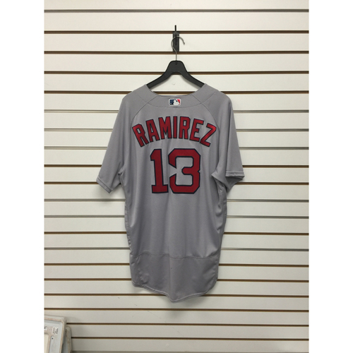 Photo of Hanley Ramirez Game-Used 2016 Opening Day Road Jersey