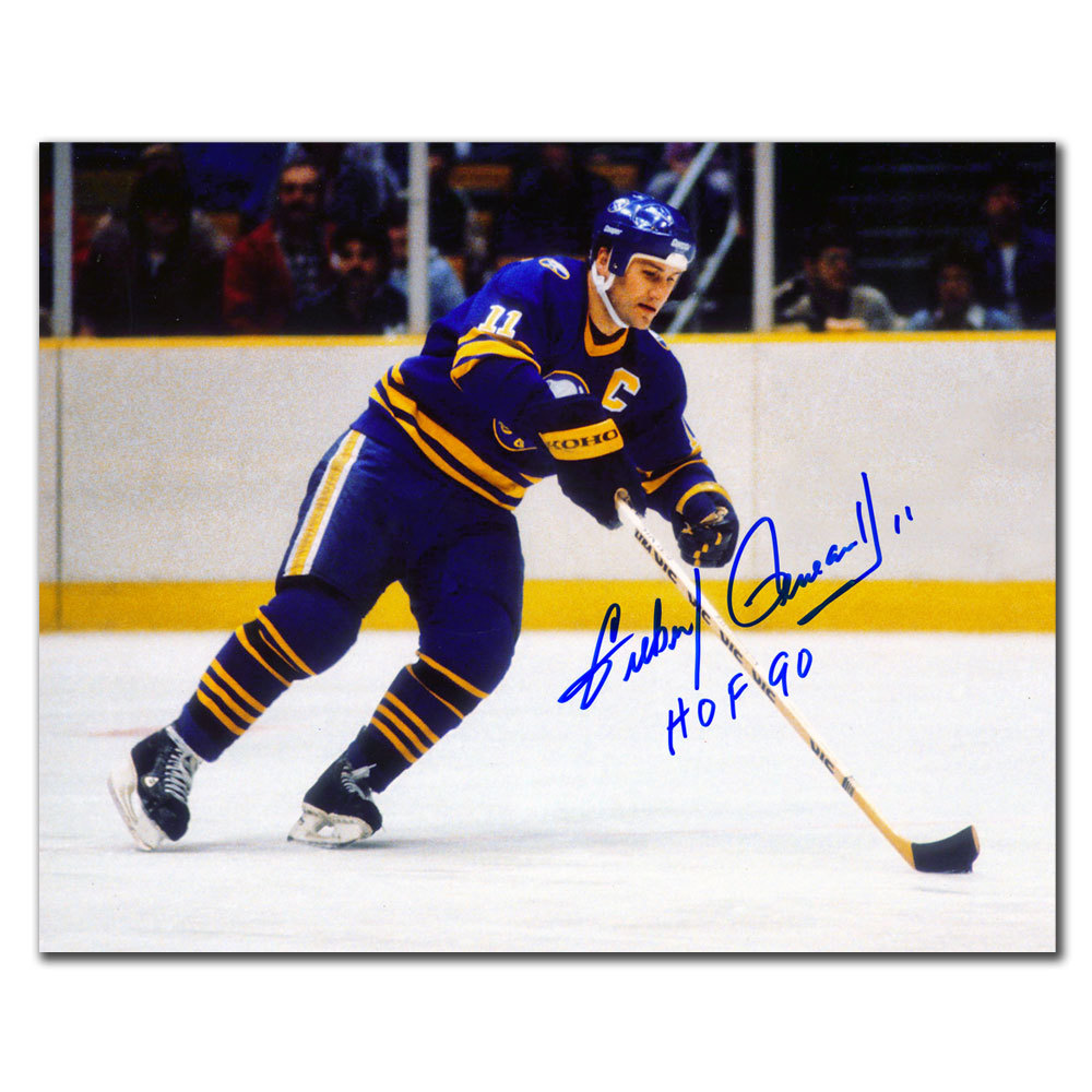 Gilbert Perreault Buffalo Sabres RUSH HOF Autographed 8x10