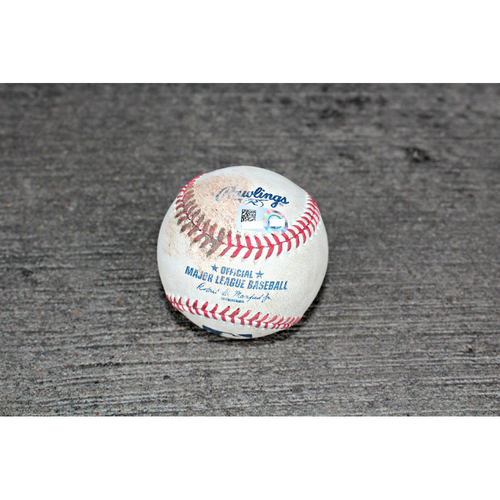 Photo of Game-Used Baseball: Khristopher Davis SGL 2 RBI off KC's Pitcher Kevin McCarthy - (Sep 14, 2016 - OAK at KC)
