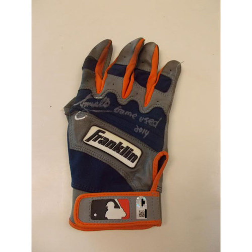 Photo of Game-Used Autographed Steven Moya Batting Glove