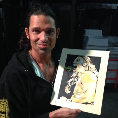 Adam Rose Signed Painting by Rob Schamberger