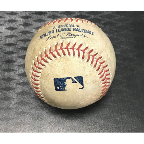 Photo of Game-Used Baseball - George Springer & Jose Altuve vs. Zack Greinke Strikeouts