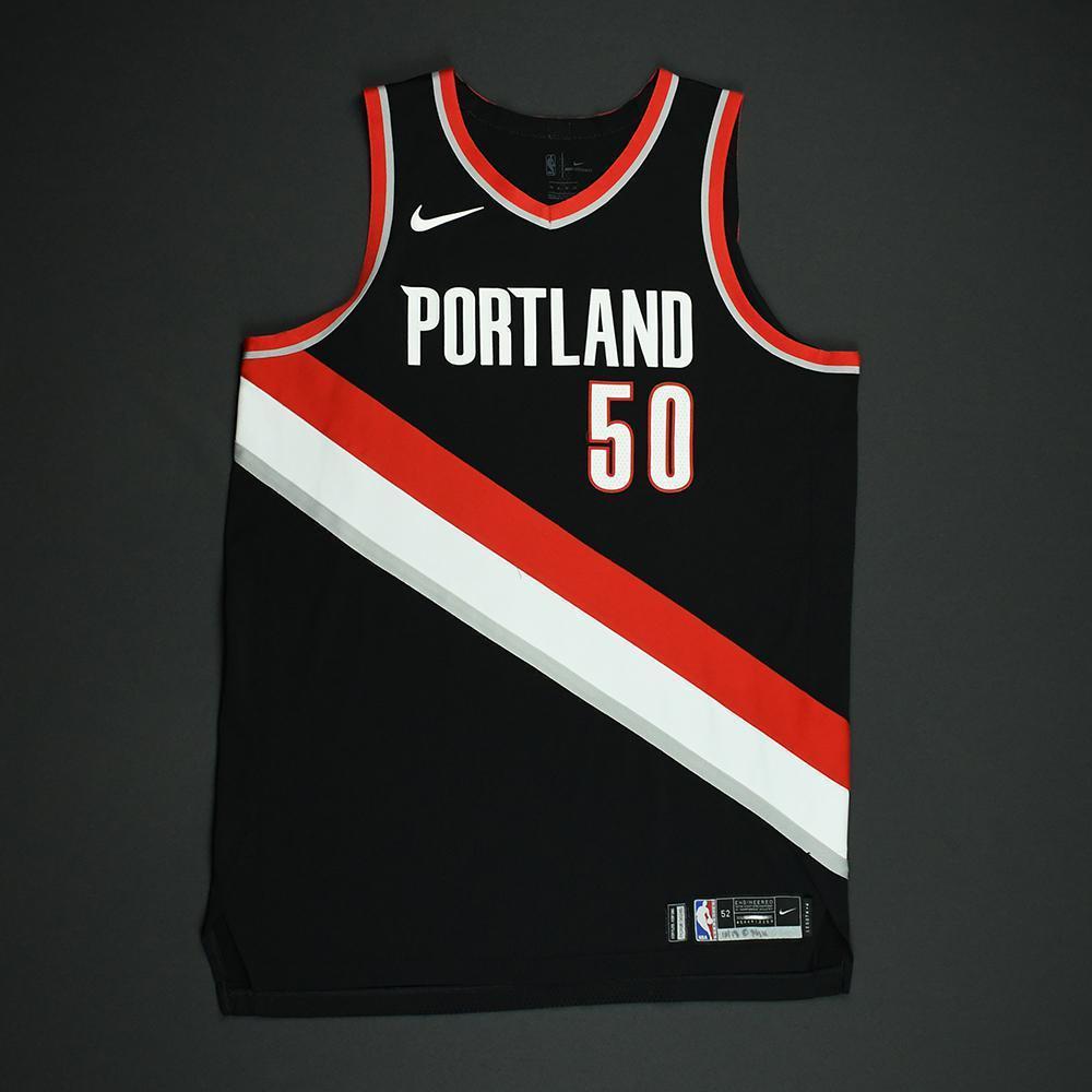 Caleb Swanigan - Portland Trail Blazers - Game-Worn Rookie Debut Jersey (Opening Night) - 2017-18 Season