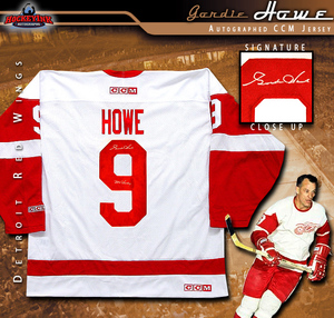 GORDIE HOWE Signed Detroit Red Wings White CCM Jersey w/
