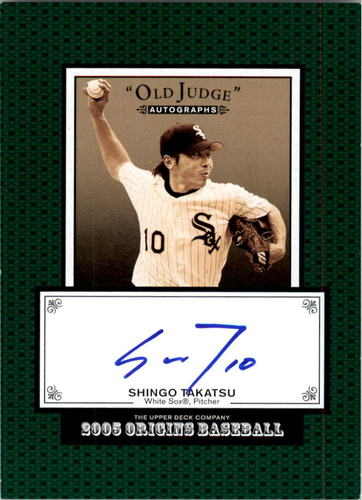 Photo of 2005 Origins Old Judge Autographs #ST Shingo Takatsu T3