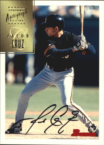 Photo of 1997 Bowman Certified Black Ink Autographs #CA17 Jacob Cruz