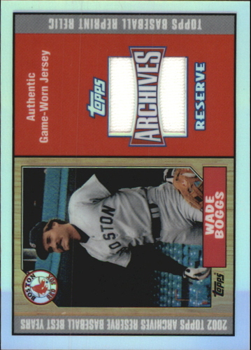 Photo of 2002 Topps Archives Reserve Uniform Relics #WB Wade Boggs 87 Jsy D
