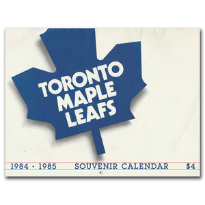 Toronto Maple Leafs Official 1984-85 Calendar
