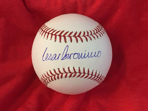 Photo of Cesar Geronimo Autographed Baseball