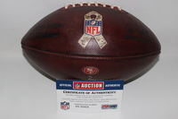 STS - 49ERS GAME USED FOOTBALL W/ STS RIBBON LOGO (NOVEMBER 6 2016)