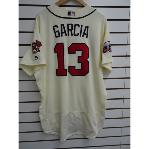 Photo of Adonis Garcia Game-Used Jersey Worn during the Final Game at Turner Field