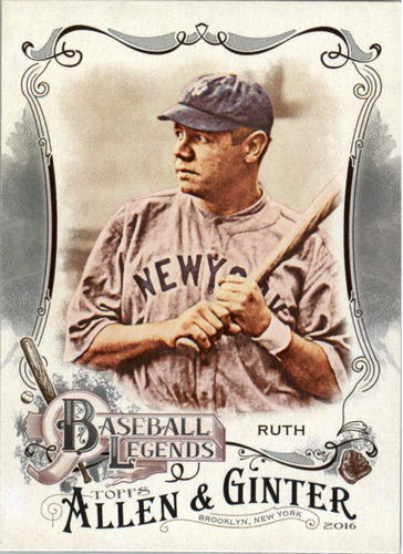 Photo of 2016 Topps Allen and Ginter Baseball Legends #BL3 Babe Ruth