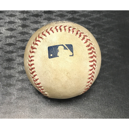 Photo of Game-Used Baseball - Jake Lamb Ground-Rule Double & Paul Goldschmidt Foul vs. Tyler Clippard