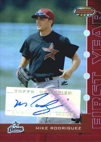 Photo of 2005 Bowman's Best Red #107 Mike Rodriguez FY AU