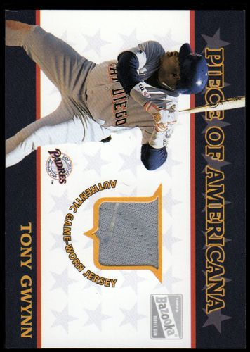 Photo of 2003 Bazooka Piece of Americana Relics #TG Tony Gwynn G