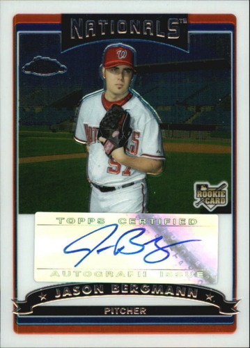 Photo of 2006 Topps Chrome #332 Jason Bergmann AU RC