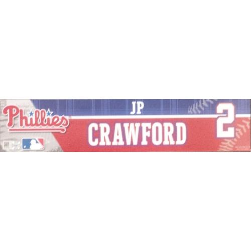 Photo of 2016 Game-Used J.P. Crawford Future's Game Locker Nameplate
