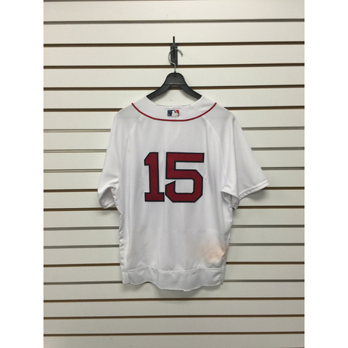Photo of Dustin Pedroia Game-Used 2016 Home Jersey -2 Home Runs, 5 RBIs vs Braves