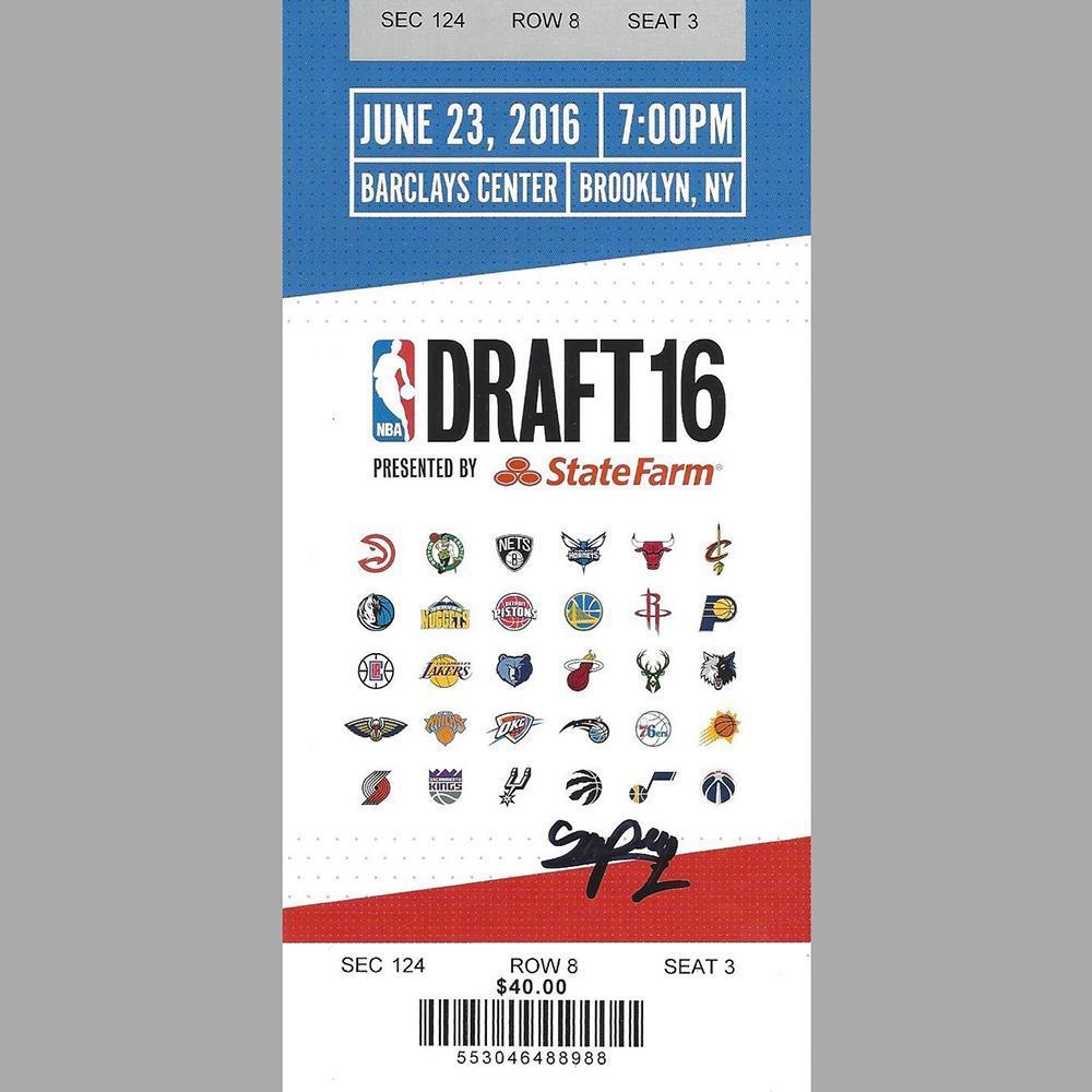Pascal Siakam - Toronto Raptors - 2016 NBA Draft - Autographed Draft Ticket