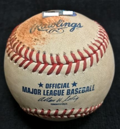 Photo of Game-Used Baseball from Pirates vs. Reds on 6/18/2014 - Simon to Marte, Pitch in the Dirt